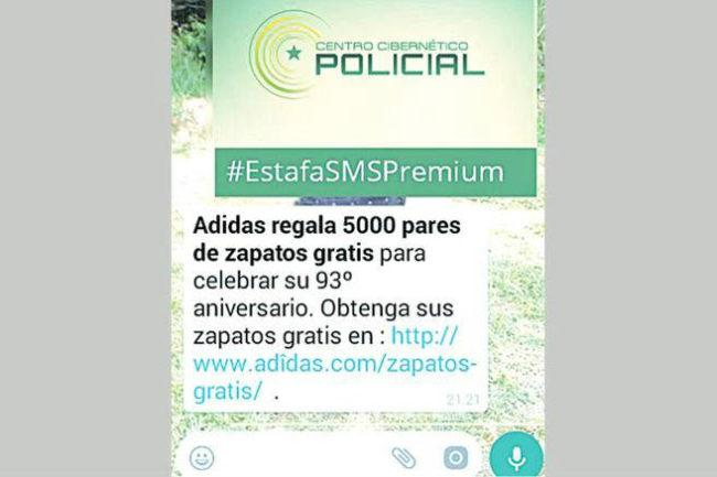 estafa adidas whatsapp