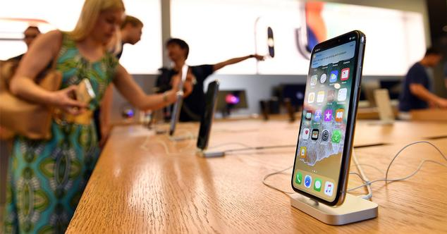 iPhone X en una tienda de Apple