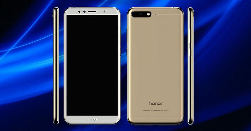 Honor 7a de color dorado