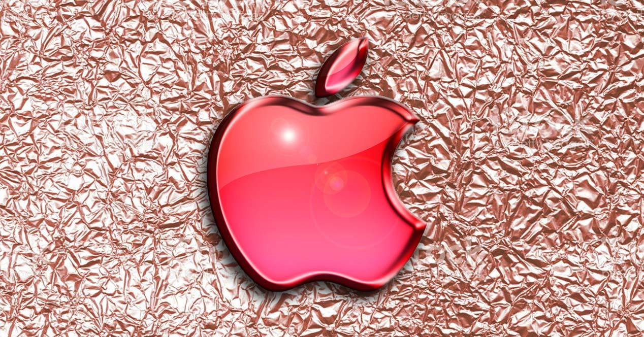 Logo de Apple en color rosa
