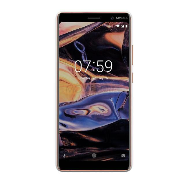 Nokia 7 Plus negro frontal