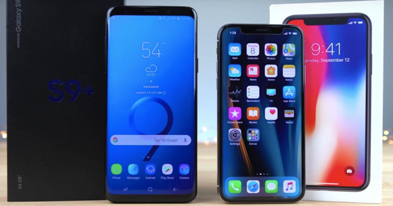 s9 plus y iphone x