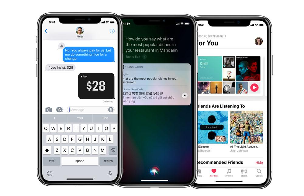 iPhone X con iOS 11