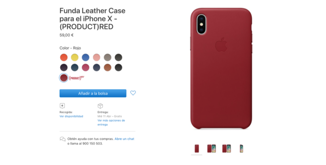 funda roja iphone X