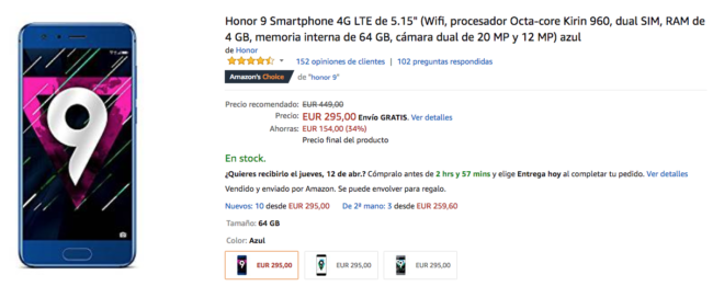 honor 9 amazon