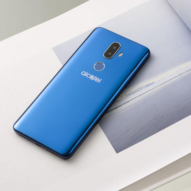 alcatel 3V en color azul