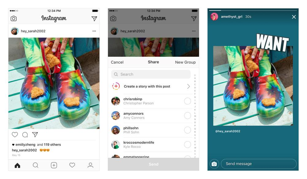 convertir posts de Instagram en Stories en Android