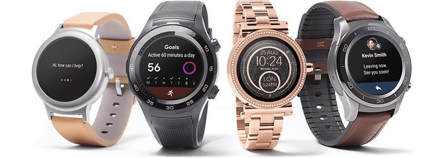 Diseño de distintos smartwatches con Android Wear