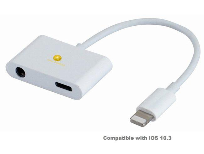 adaptador de Lightning a jack de 3.5mm