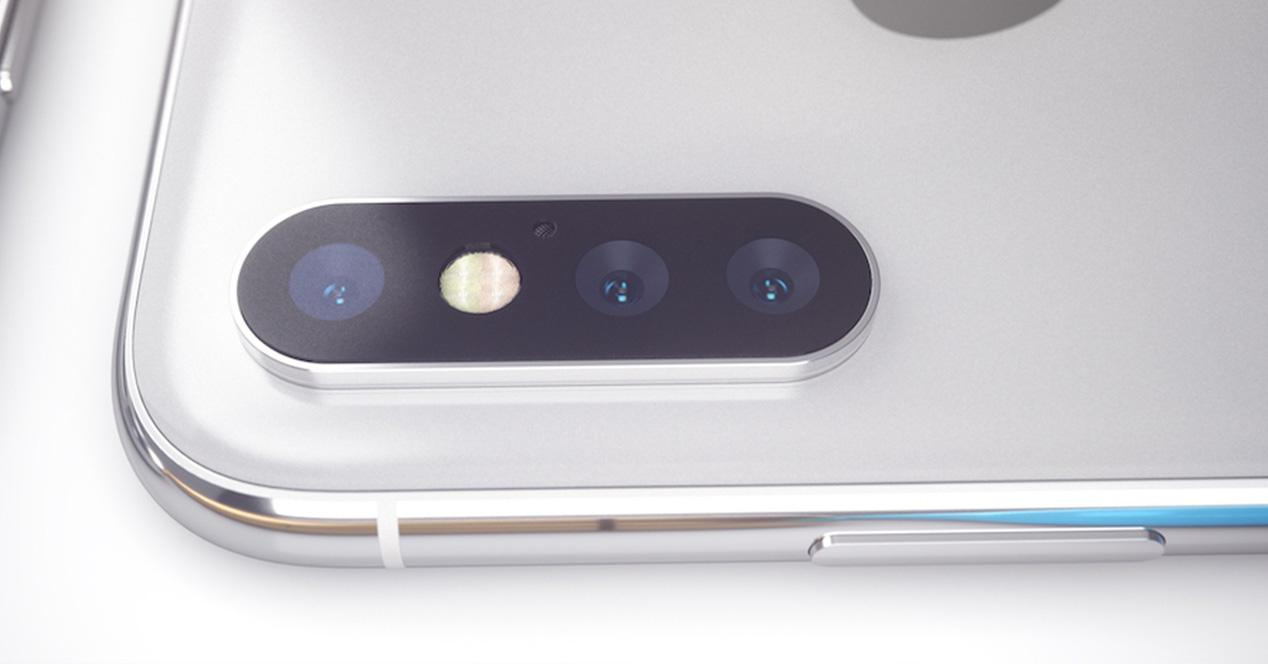 Concepto del iPhone X con triple cámara