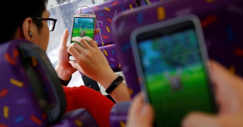 pokemon go en bus