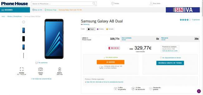 moviles gratis-junio-Galaxy A8