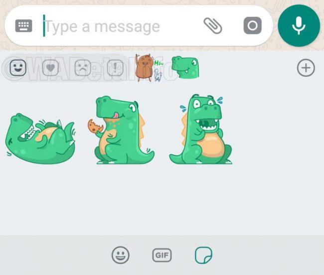 reacciones de stickers en whatsapp