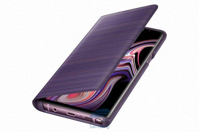 Galaxy Note 9-funda LED View-colores