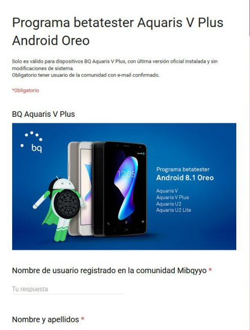 Oreo 8.1 beta-Aquaris V Plus
