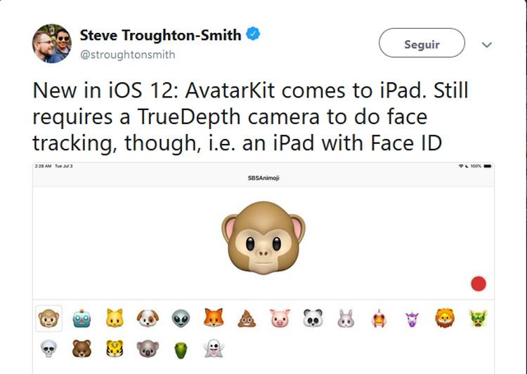 Referencias sobre el iPad con Face ID en iOS 12 beta