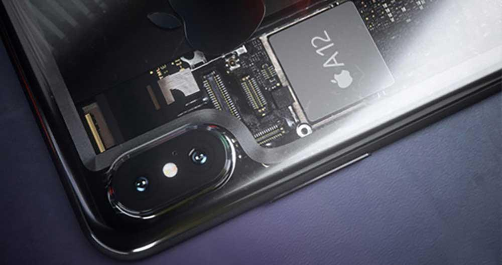 Procesador Apple A12 montado en un iPhone X