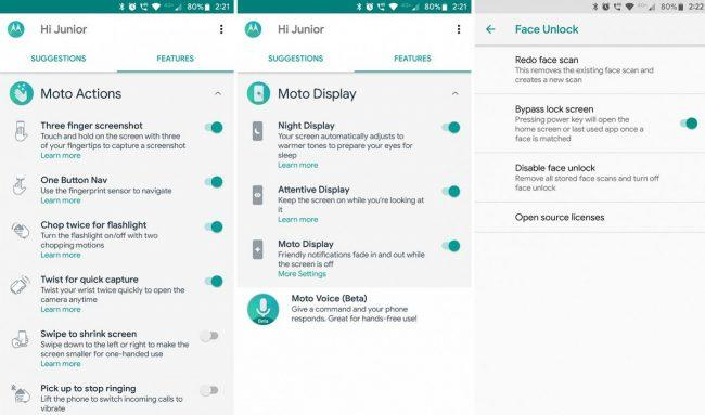 Moto G6-Moto Z2 Play-portar apps