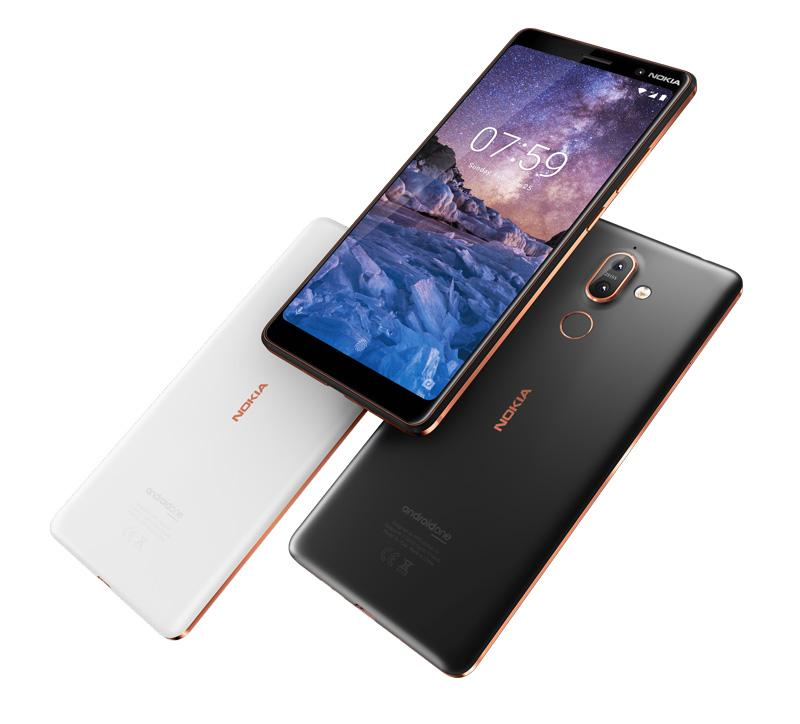 Colores disponibles para el Nokia 7 Plus