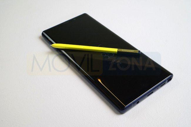 Samsung Galaxy Note 9 con S Pen amarillo