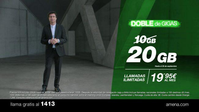 tarifas de Amena-20 GB datos-indefinidos