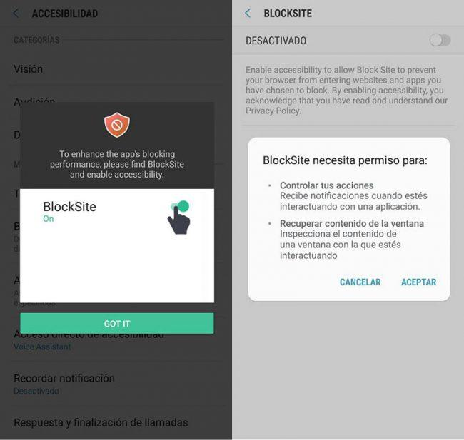 Block site android