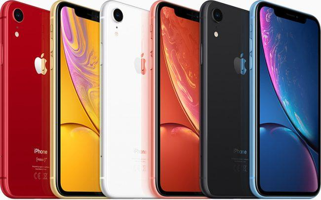 iPhone XR en distintos colores