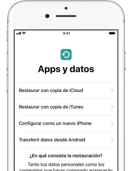 ios apps y datos android