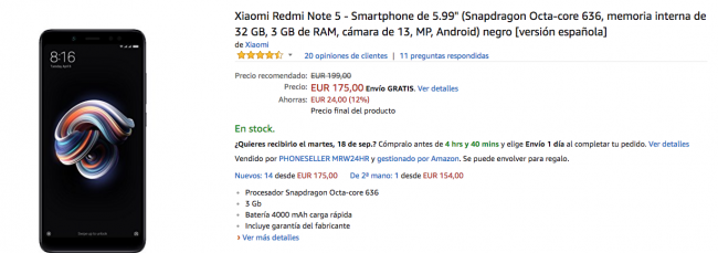 xiaomi redmi note 5 amazon