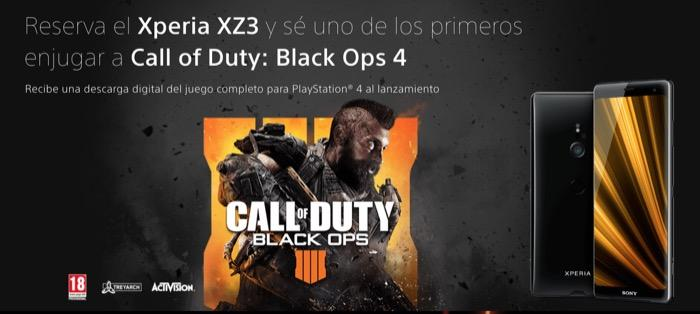 Call of Duty gratis reservando el Xperia XZ3
