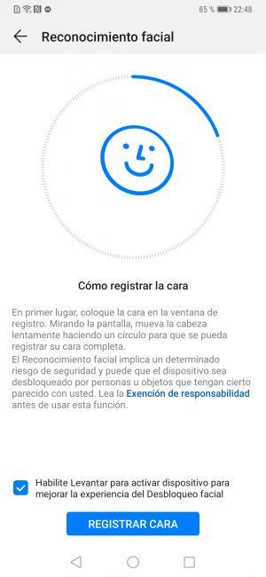 Reconocimiento Huawei Mate 20 Pro