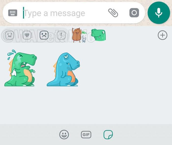 Ejemplo de stickers de WhatsApp