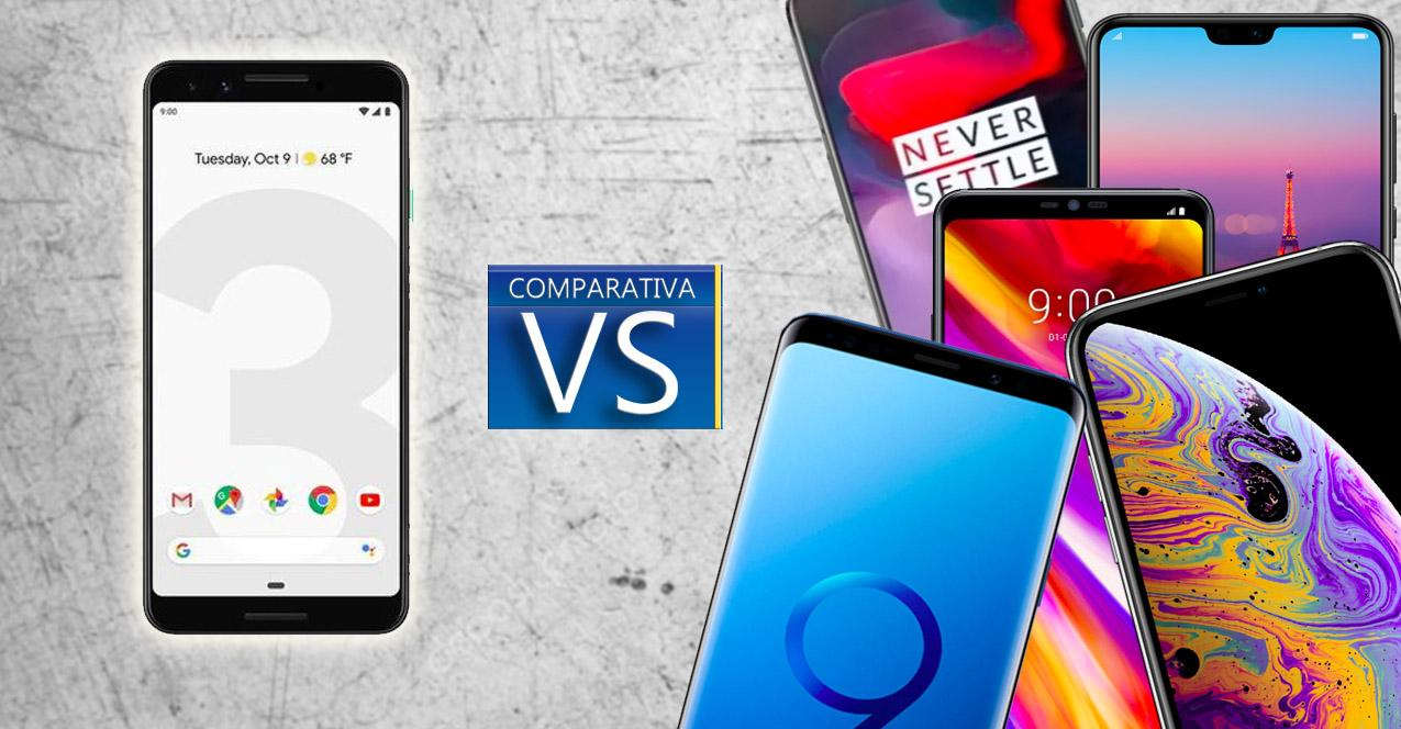 comparativa Pixel 3 vs topes de gama
