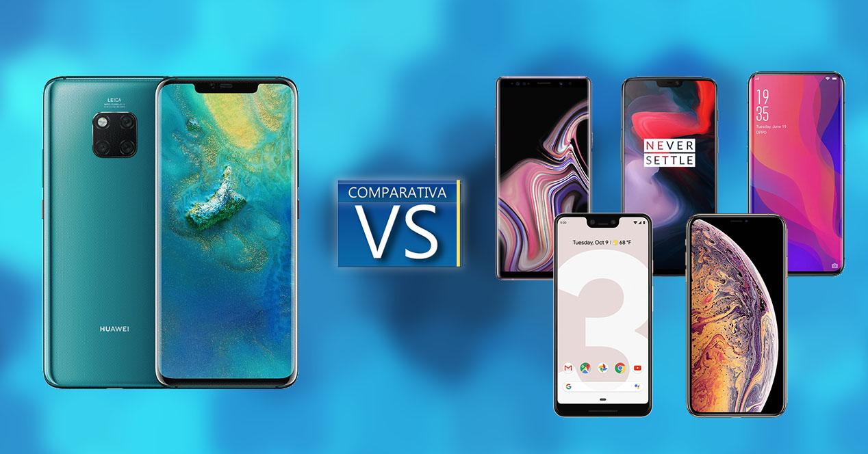 Comparativa Huawei Mate 20 Pro