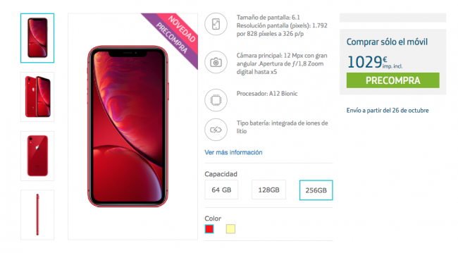 phone xr movistar
