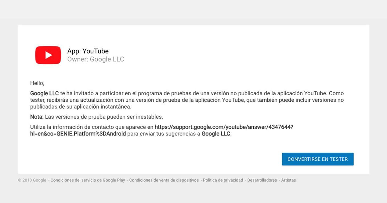 programa beta youtube