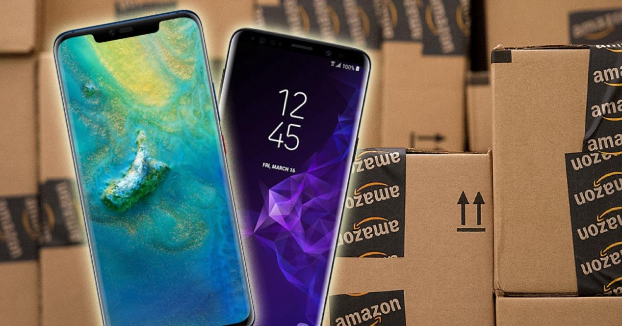 moviles sobre cajas de amazon