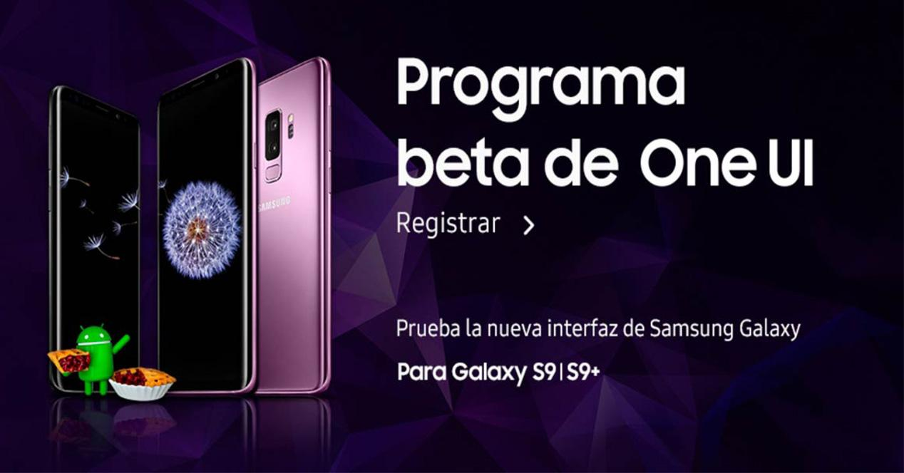 Programa Beta de Android 9 Pie para el Galaxy S9