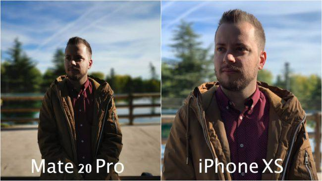 Retratos comparados Huawei Mate 20 Pro y el iPhone XS