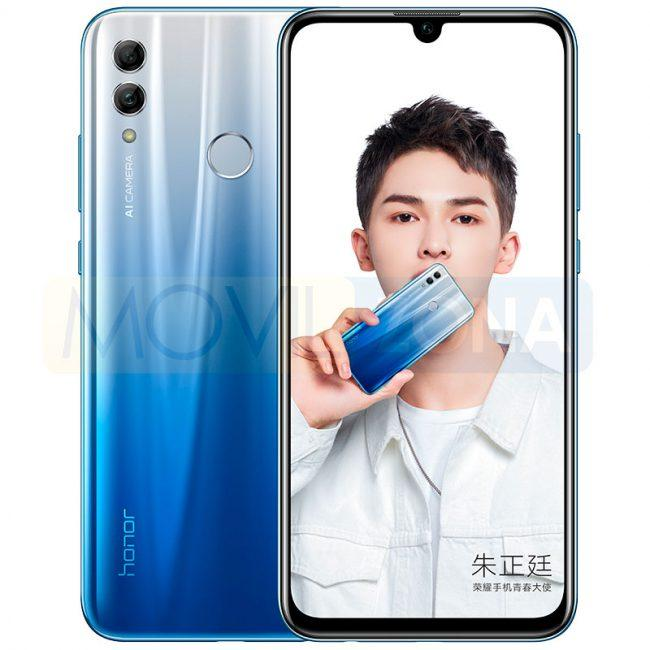 Honor 10 Lite frontal y cámara