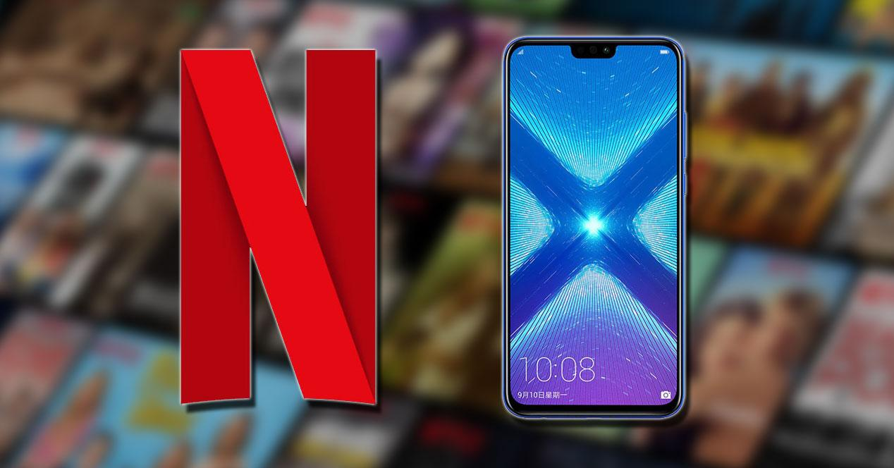 Logotipo de Netflix con Honor 8X