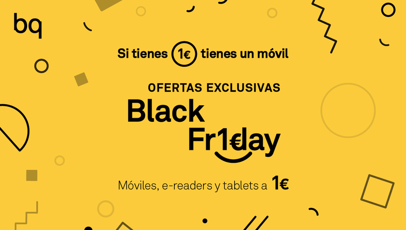 bq ofrecerá dispositivos a 1€ en black friday