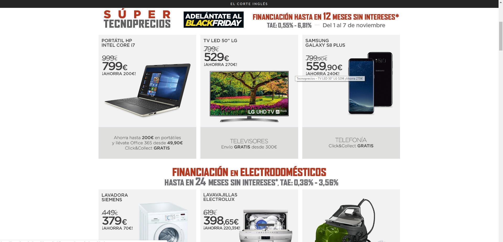 comprar móviles en black friday