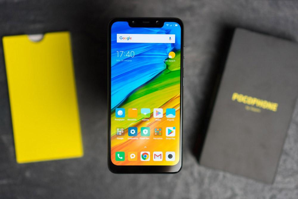 Display con notch del Pocophone F1