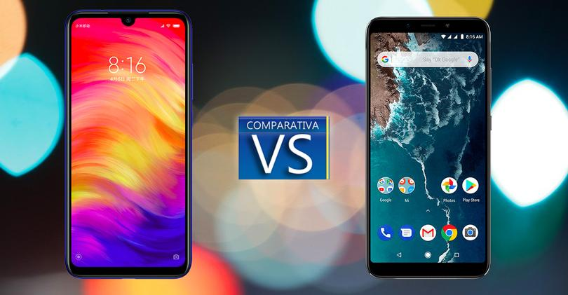 comparativa Redmi Note 7 Mi A2