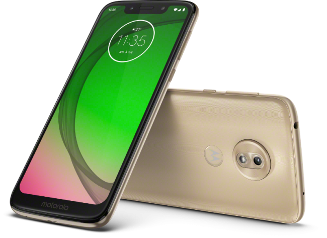 Moto G7 Play frontal y trasera