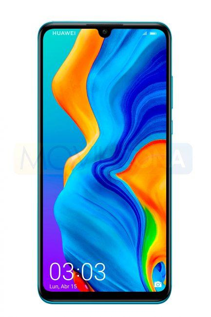 Huawei P30 Lite azul frontal display
