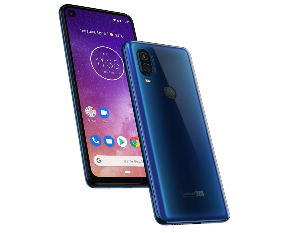 Motorola One Vision de color zaul