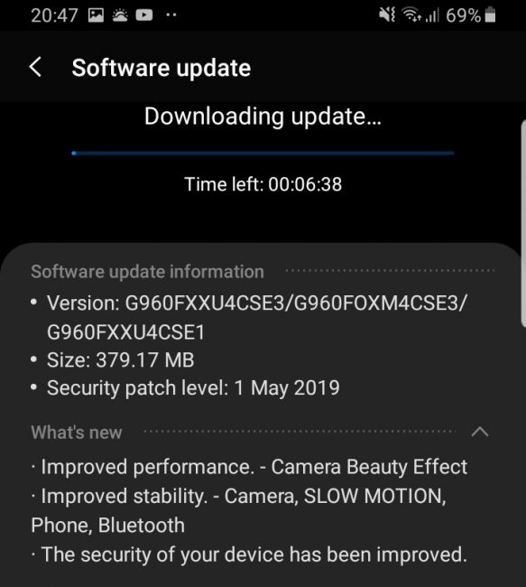 Samsung-Galaxy-S9-May-patch-2019-UK