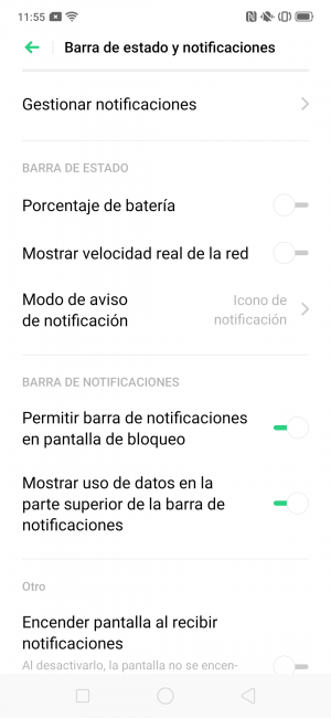 Notificaciones Oppo Reno